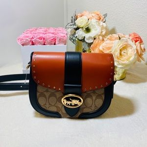 Coach large buckle crossbody